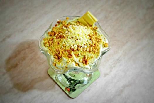 Mousse de Chocolate Branco com Mascarpone