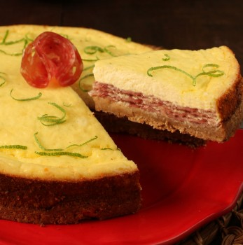 Cheesecake Salgado de Salame Italiano