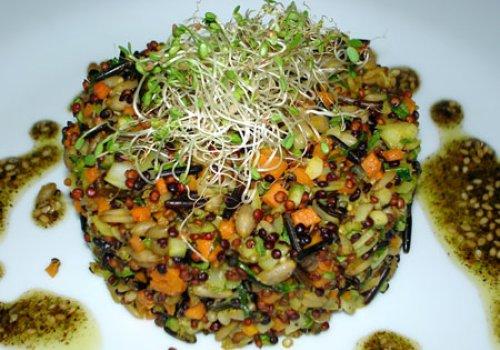 Quinoa com Arroz Selvagem e Aveia em Grãos
