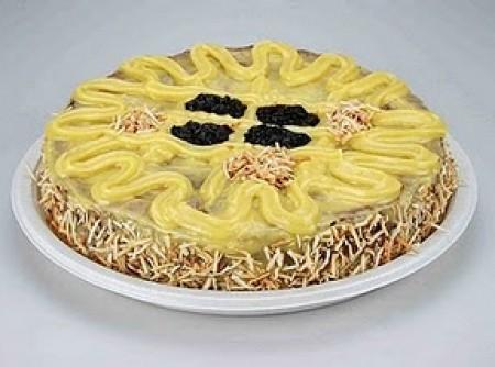 Torta coco com ameixa