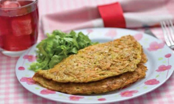 Omelete de legumes com aveia
