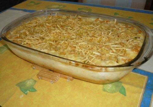 Purê de batatas com frango (tia Celina)