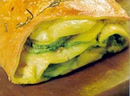 Pão Recheado com Verduras e Presunto Crú