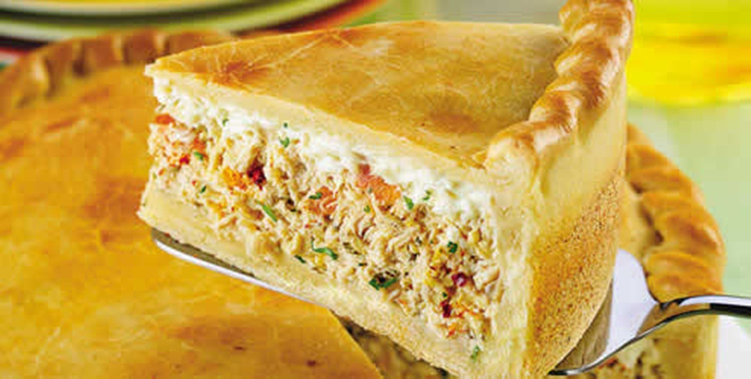 Image result for Torta de Frango com Requeijão.
