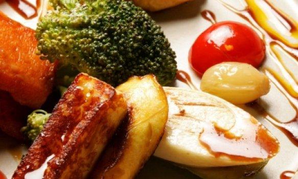 Salada de Legumes Assados com Queijo Coalho