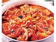 Caçarola de abobrinha com tomate