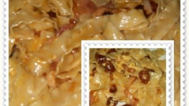Tagliatelle com Bacon e Chouriço