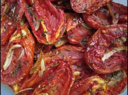 Tomates secos com gergelim