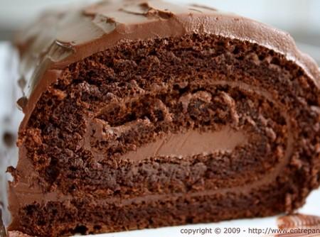 Rocambole de Chocolate com Café