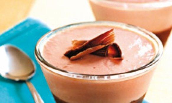 Creme gelado de goiaba com chocolate