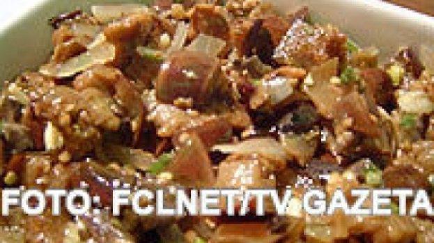 Saladas de Berinjela e Abobrinha