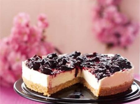 Cheesecake com Calda de Cereja