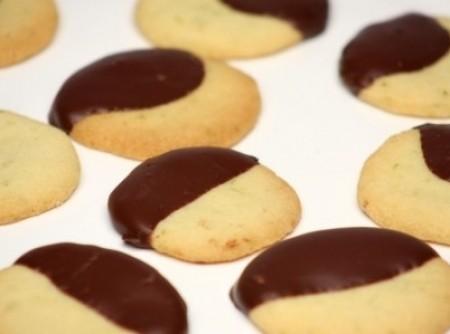 Cookies de laranja com chocolate