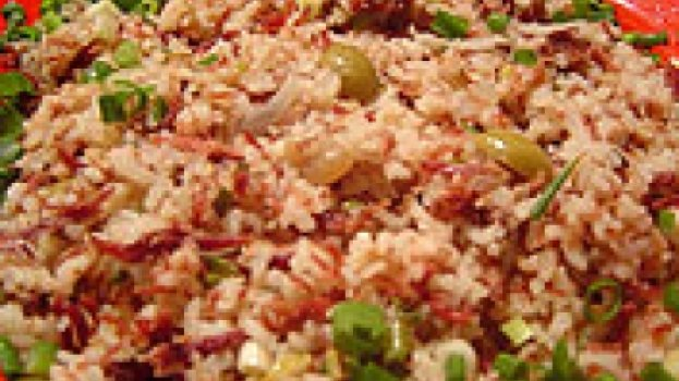 risoto de carne seca