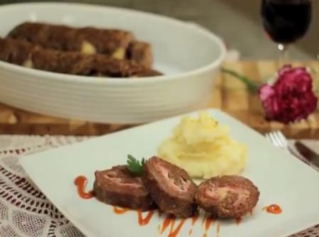 Rocambole de Carne Moída | Jucinilde Salazar Pereira
