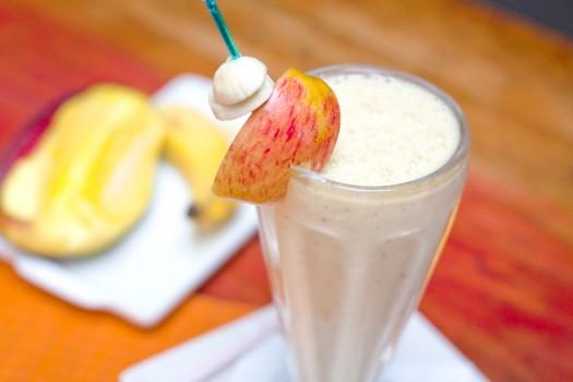 Vitamina de manga e banana