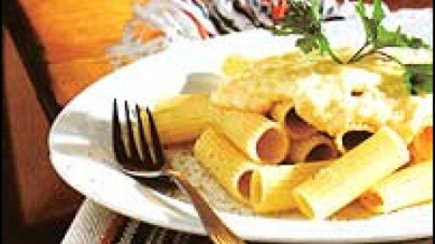 Rigatoni aos quatro queijos