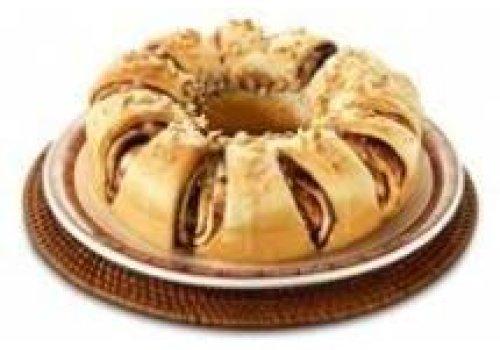 Rosca à moda dinamarquesa - de canela e chocolate em pó