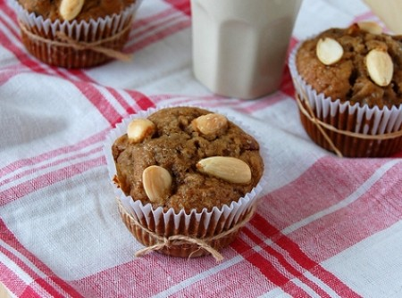 Muffins de Maçã e Cranberries