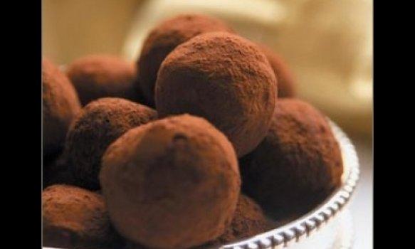 Trufas clássicas de chocolate