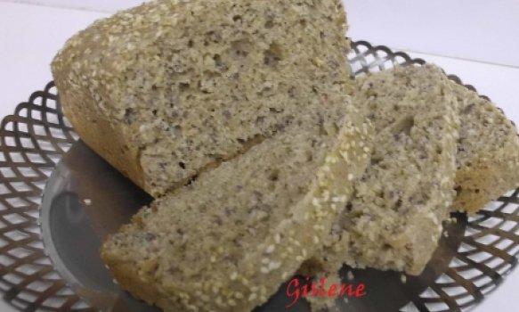 Pão Integral de Liquidificador com Linhaça e Gergelim
