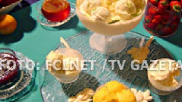 Sorvete de limão e milho verde