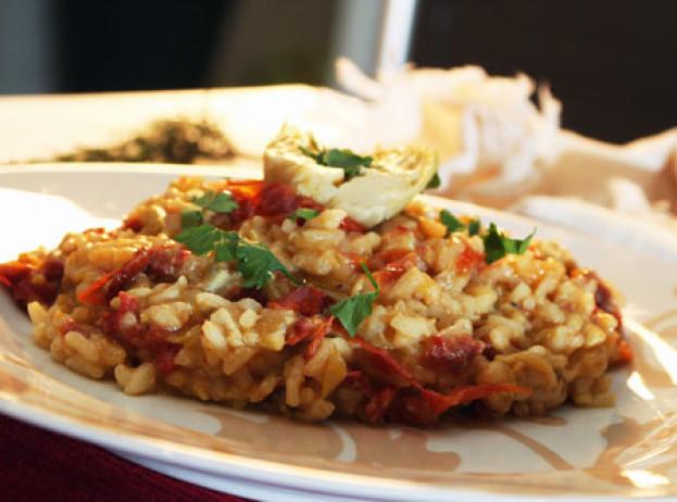 Risoto de Alcachofra com Tomate seco