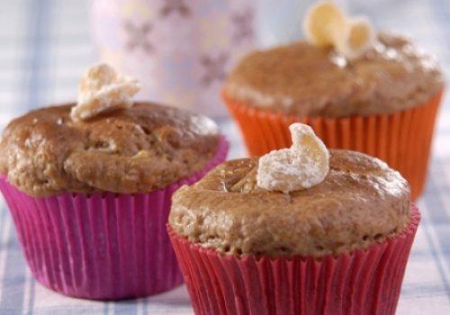 Muffins de Pera e Gengibre