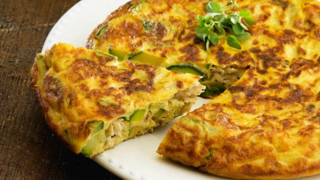 Omelete de Abobrinha e Atum
