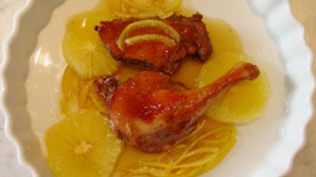 Pato ao molho de laranja