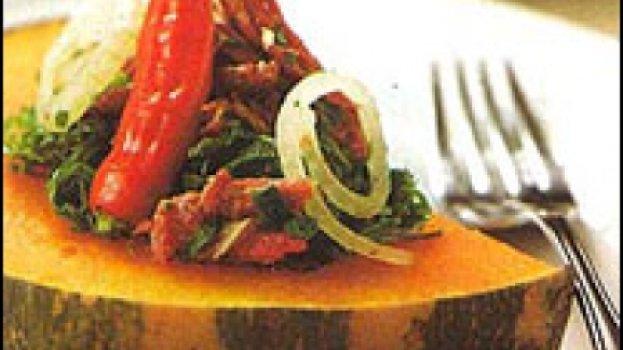 Abóbora com Couve e Carne Seca
