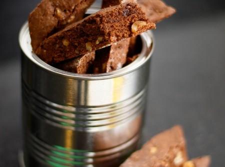 Biscotti de Chocolate e Amêndoas