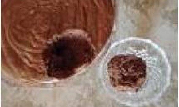 Mousse de chocolate aerado