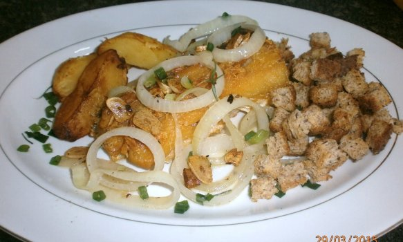 Bacalhau com Croutons