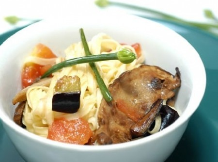 Espaguete ao Portobello
