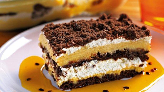 Pavê de Maracujá e Cookies