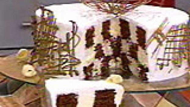 Bolo Xadrez com Mousse de Chocolate Branco