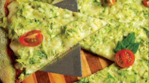 Pizza com Base de Abobrinha