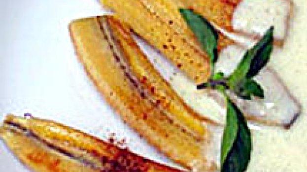 Banana Flambada com Creme de Baunilha