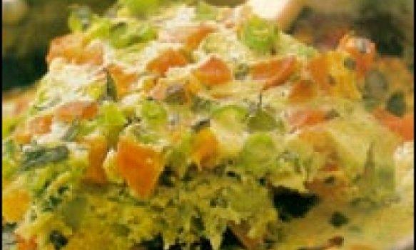 Fritada de vagem com cenouira e estragão