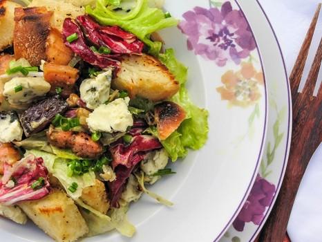 Salada Rústica com Gorgonzola | Dani Oliveira