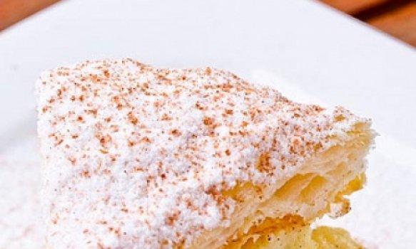 Torta Folhada de Banana