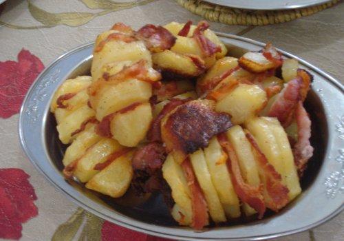 Batata Laminada com Bacon