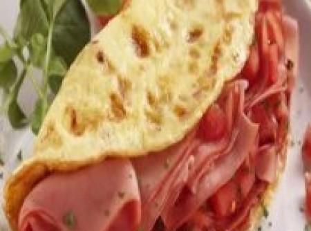 Omelete de Mortadela | elza s. calizotti