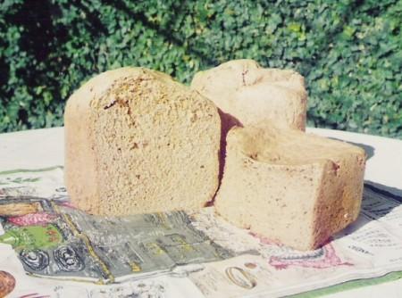 Pão integral de Aveia Integral em Flocos, Farinha de Soja Integral e Trigo Integral