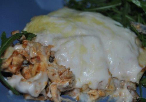 Entrada de frango com cogumelos