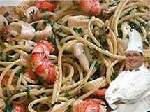 Espaguete com Camarão e Lulas