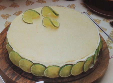 torta de queijo e limâo