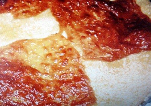Torta simples de presunto e mussarela
