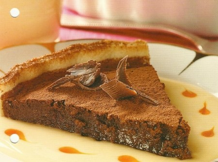 Torta de chocolate e baunilha